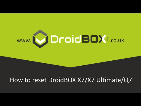 How to reset DroidBOX X7/X7 Ultimate/Q7 Rk3188 Factory Reset Video