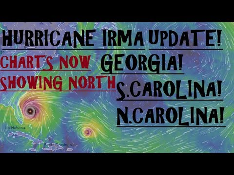 Hurricane IRMA Update! GEORGIA NORTH CAROLINA SOUTH CAROLINA on ALERT!