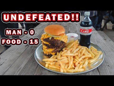 KC Finn's Undefeated Burger Challenge in Jackson, Tennessee!!
