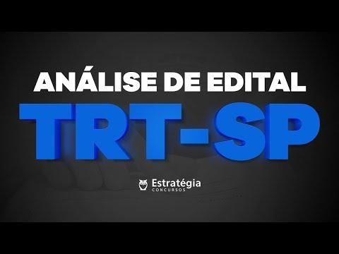 Análise de Edital TRT SP 2018 -  AO VIVO