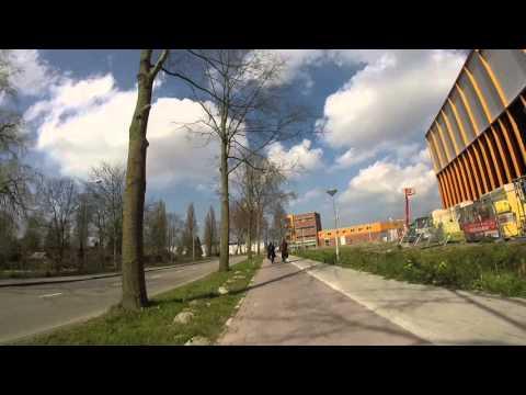 Bike Ride in Warehouse Area of Amsterdam