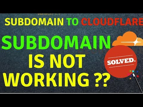 How to create subdomain & activate on Cloudflare |  SOLVED Subdomain on cloudflare not working