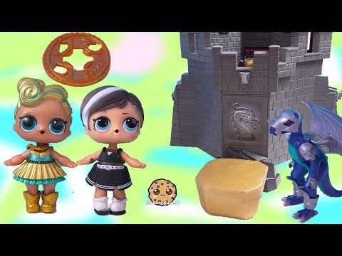 LOL Surprise Doll Treasure X Gold Dig At Dragon Castle ! Blind Bag Toy Video