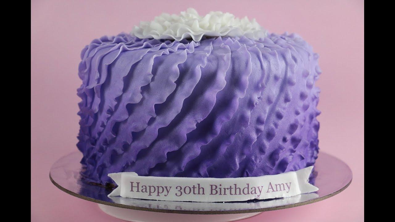 Purple Fondant Ruffle Cake Rosie S Dessert Spot Youtube