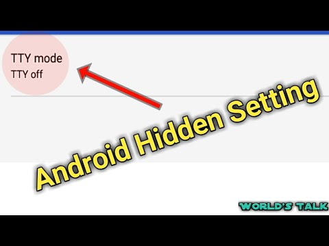 Android Mobile Hidden Setting About TTY Mode _ World's Talk 💕