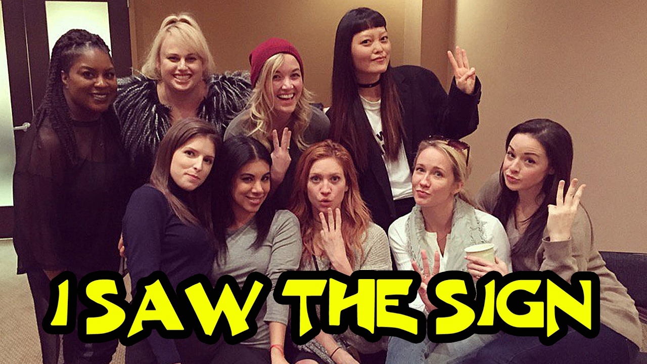 Pitch Perfect Cast Singing The Sign - On the Set of