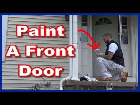 How To Paint A metal Exterior Front Door
