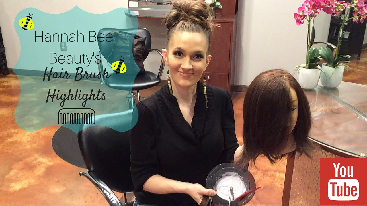 Hair Brush Balayage Highlights Tutorial Youtube