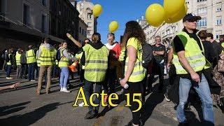 Gilets jaunes ROUEN l'acte 15.