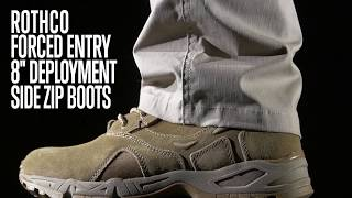 Forced Entry Deployment Boots with Side Zipper - Rothco Product Breakdown
