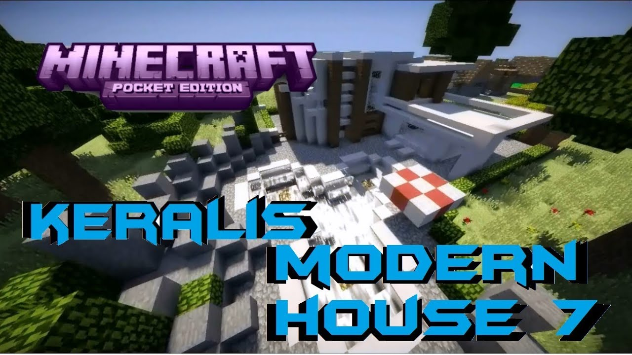 minecraft pe keralis modern house 7 download youtube