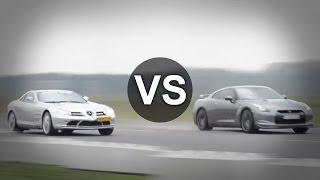 Nissan GT-R Vs BMW M5, Mercedes-Benz SLR Drag Race