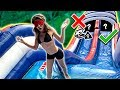 TRY NOT TO Slide Down The WRONG WATER SLIDE!! Mp3