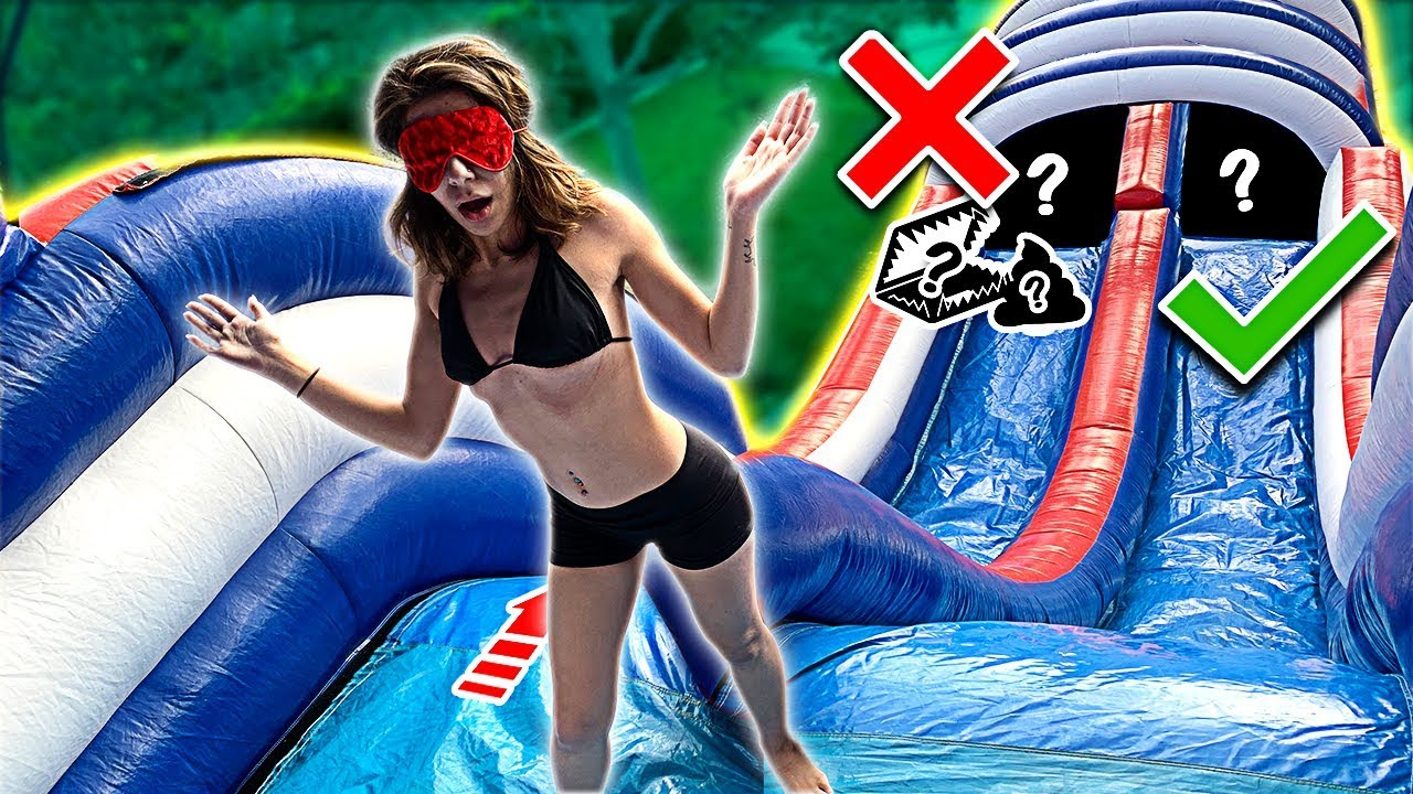 Try Not To Slide Down The Wrong Water Slide Youtube