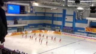 Чемпионат России по синхронному катанию на коньках Айсберг . Короткая программа