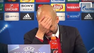 Pep forgets which language he's supposed to speak
