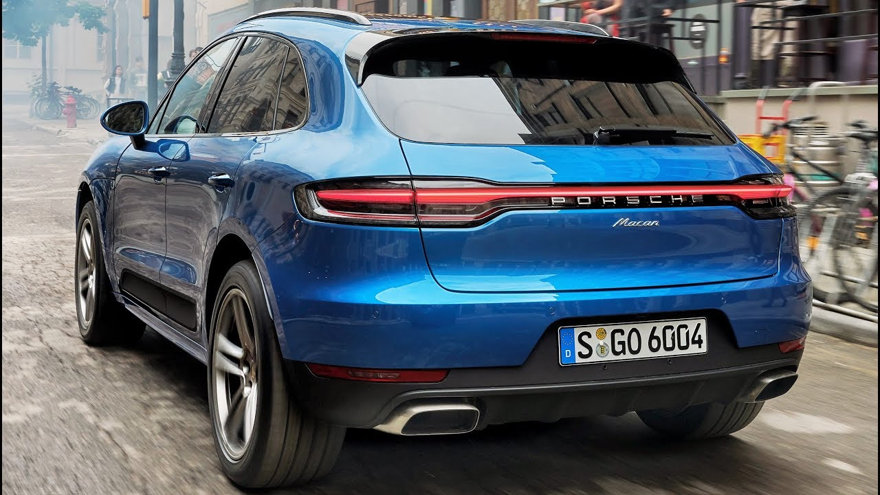 2019 Blue Porsche Macan Sports Car In The Suv Segment Youtube