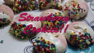 Strawberry cookies Quick Recipe (eggless)