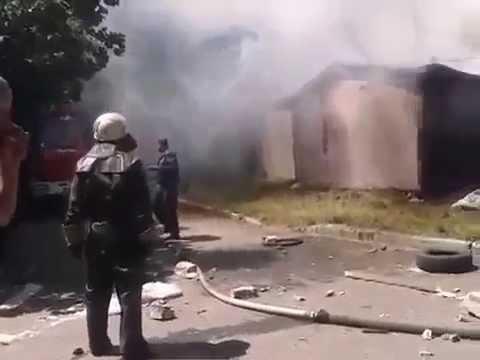 Артобстрел жилых кварталов Донецка 29 07 2014