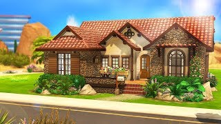SMALL MEDITERRANEAN HOME 🌴 | The Sims 4 | Speed Build