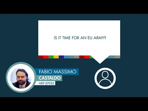 Fabio Massimo Castaldo answers a question on EU security