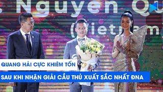 Quang Hải cực khiêm tốn sau khi nhận giải Cầu thủ xuất sắc nhất Đông Nam Á   AFF Awards Night 2019