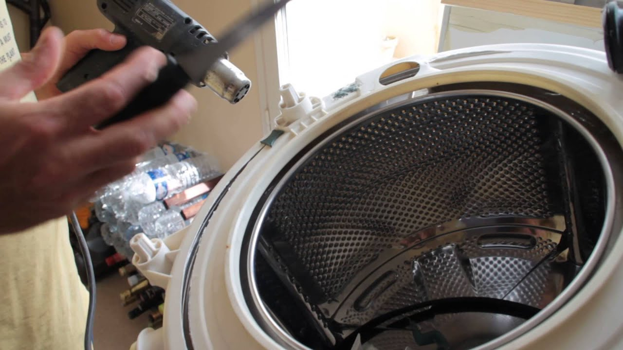 R parer une cuve de lave linge en plastique youtube - Dimension machine a laver a hublot ...