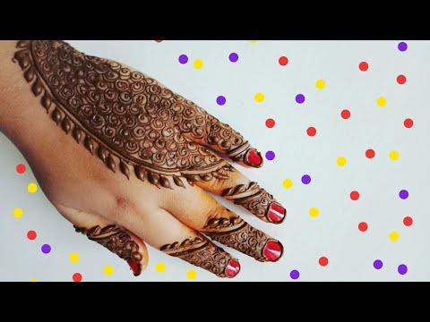 Eid special henna design for back side #7
