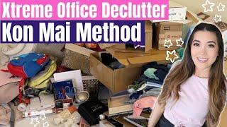 *NEW* DECLUTTERING YEARS OF HOARDING (help me Marie Kondo) | Closet & Office KONMARI METHOD *kinda*