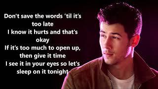 Jonas Brothers - Don't Throw it Away (LYRICS)