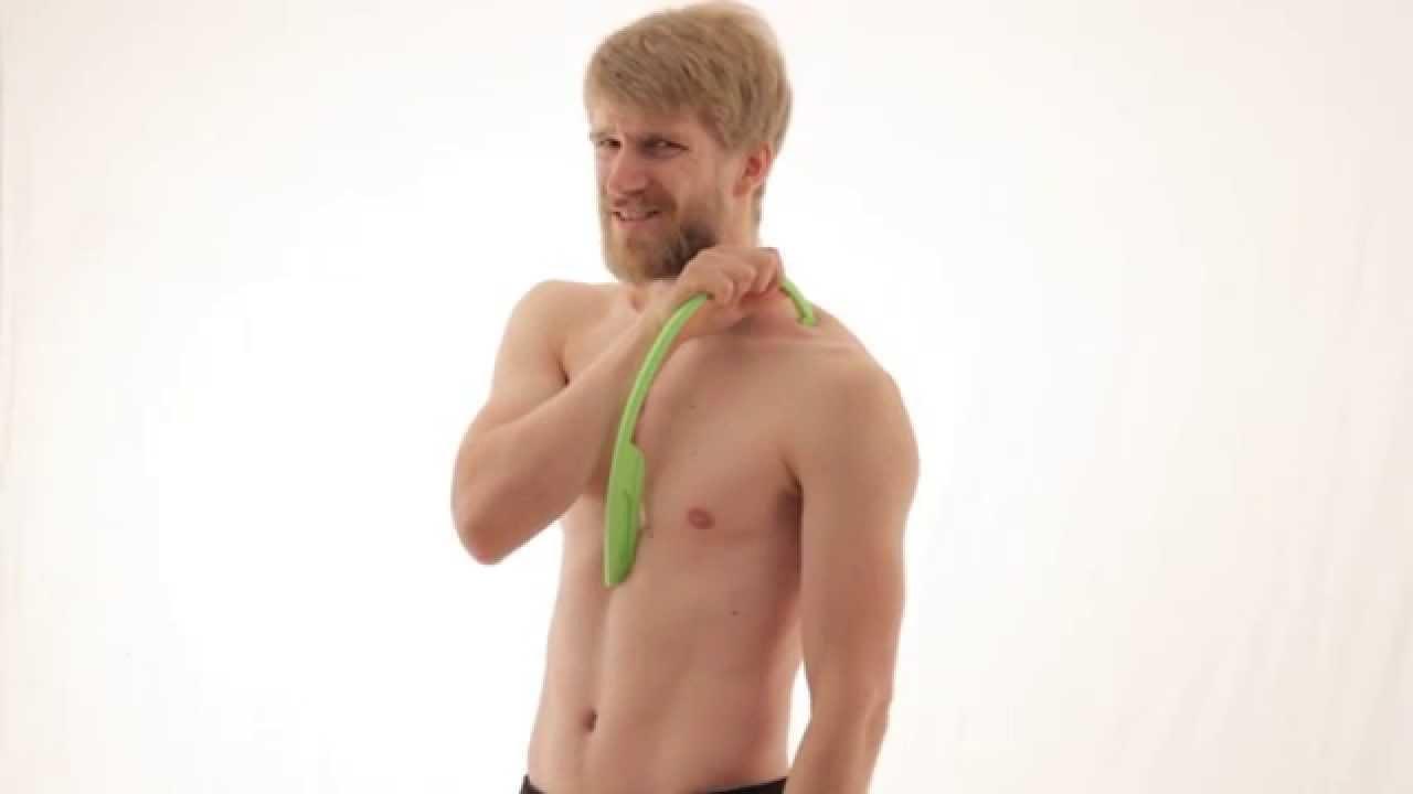 Trapezius Triggerpunkte & Schmerzen mit der Massagefee selbst ...