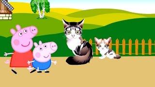 Свинка Пеппа и Джордж на ферме. Домашние животные. Мультик для детей