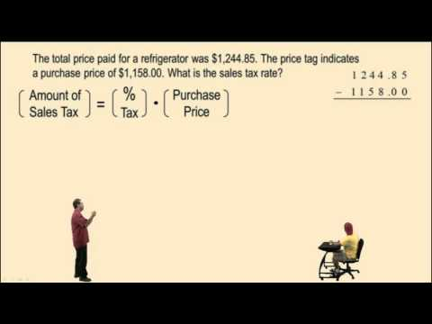 Calculating Sales Tax And Commission
