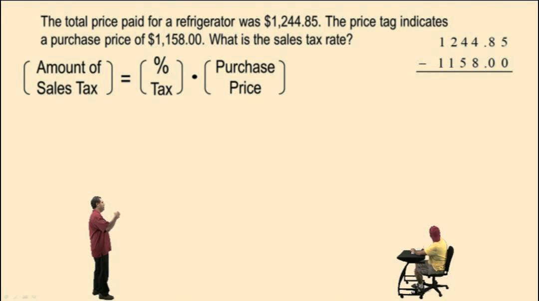 How To Figure Out Sales Tax >> Calculating Sales Tax And Commission