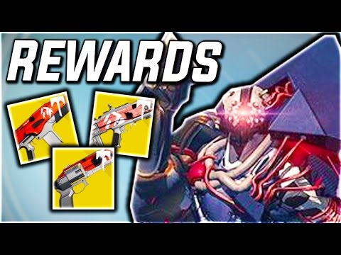 Destiny - NEW RAID EXOTIC PRIMARY REWARDS! (Destiny WRATH OF THE MACHINE CHALLENGE MODE LOOT)