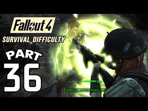 Fallout 4 Survival Difficulty SNIPER Walkthrough - Part 36 Boston Public Library 1080p 60FPS