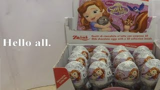 24 Sofia The First Surprise Eggs Opening 3D Toys for Kids #121