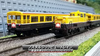 【Nゲージ鉄道模型】ノスタルジックビュートレイン ~普通列車なのにジョイフルトレイン!?~
