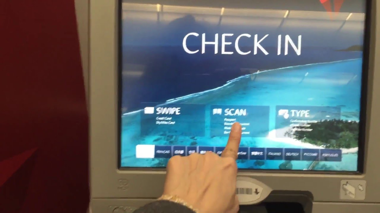 How To Check In Delta Airlines Kios And Get The Air Ticket Youtube