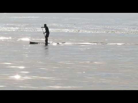 Paddle Board On Pacific Ocean Laguna Beach California January 4, 2014