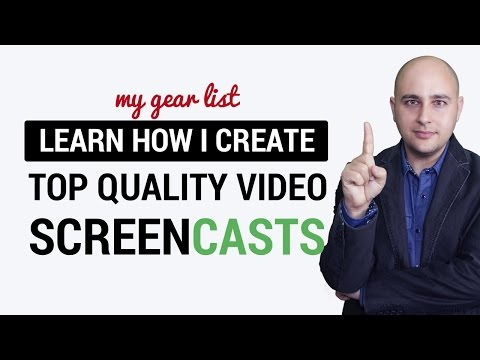 Best Video Gear For Creating Screencast Videos Like A Pro - How I make my videos