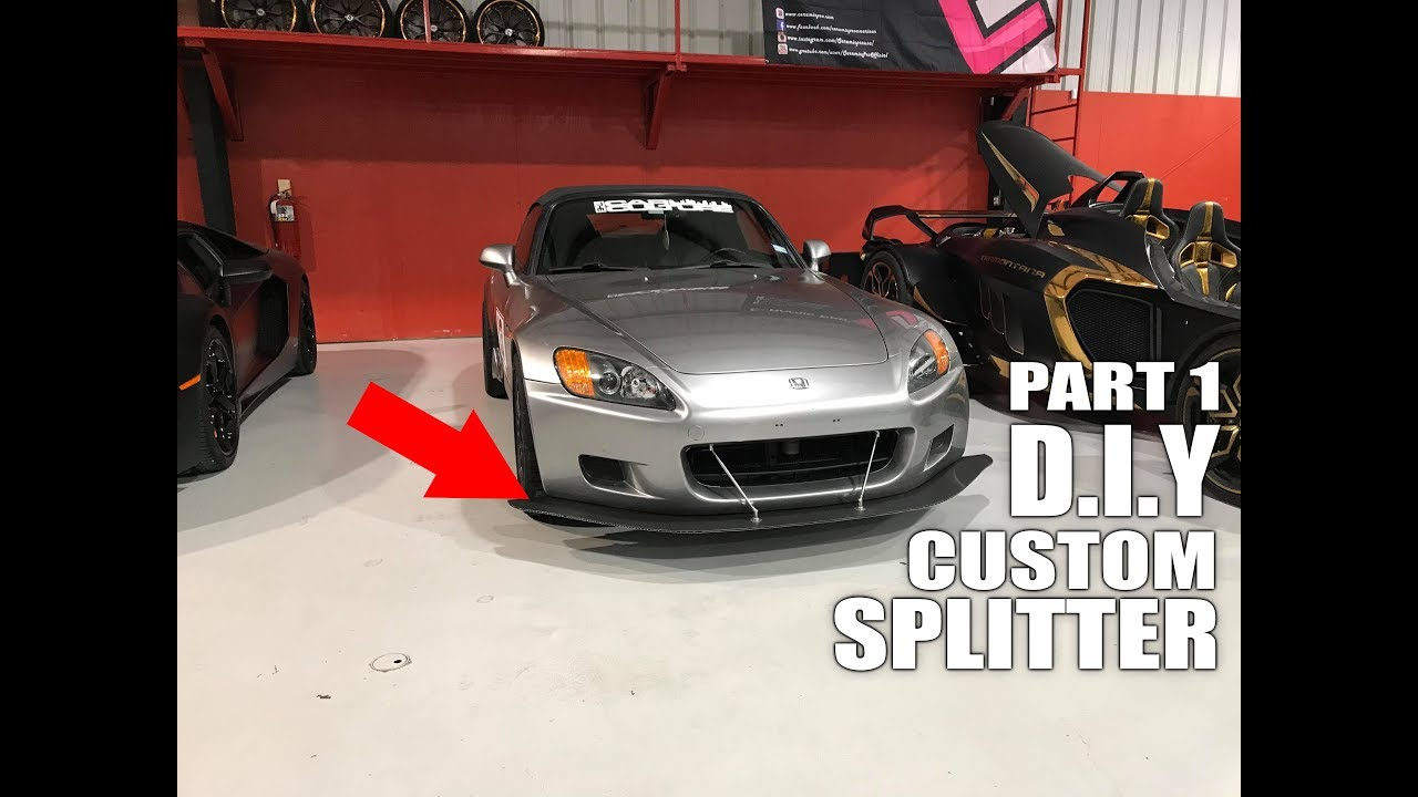 How to Make your own FULL FUNCTIONAL Front Splitter