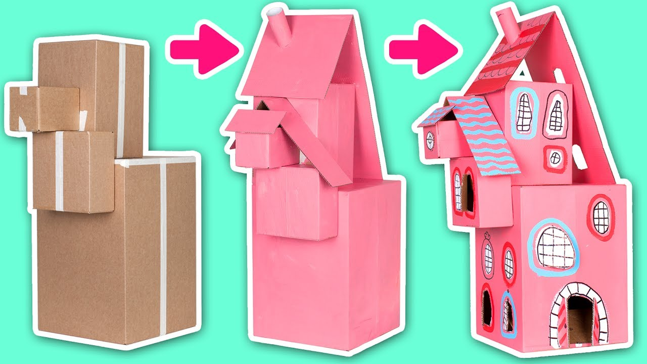 House Craft Ideas For Kids Part - 21: Cardboard Dollhouse - Crafts Ideas For Kids | DIY On Box Yourself