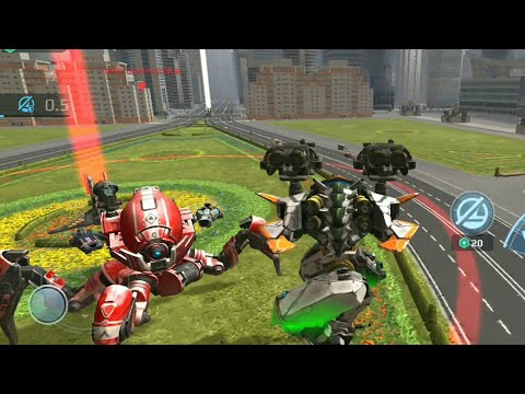 Avenger with and without shot grouping with gameplay//War Robots Test