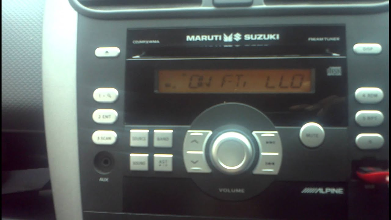 Integrated Alpine Stereo For Maruti Ritz Youtube