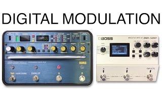 korg sdd 3000 vs boss dd 500 modulation