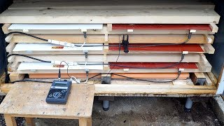 Wood drying: Infrared dryer for wood Flexyheat