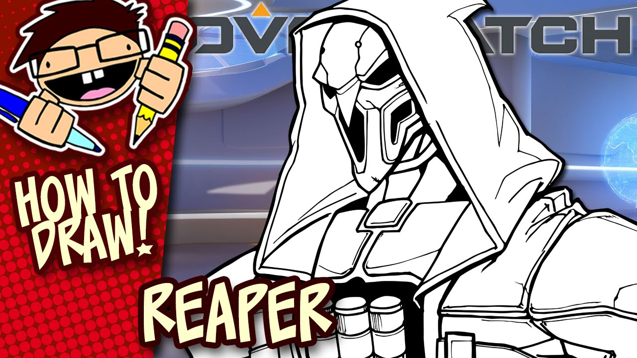 How To Draw Reaper Overwatch Easy Step By Step Drawing