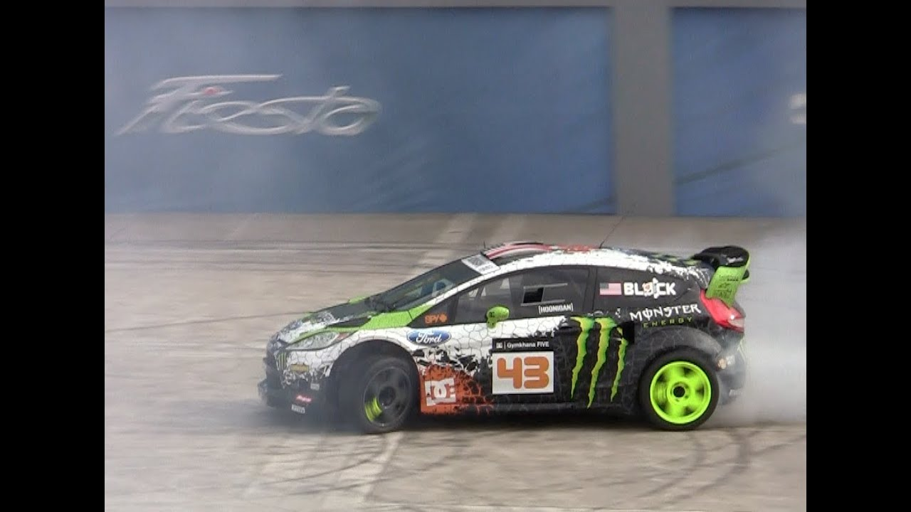 2014 Ford Fiesta ST debuts in a cloud of Ken Block smoke at the