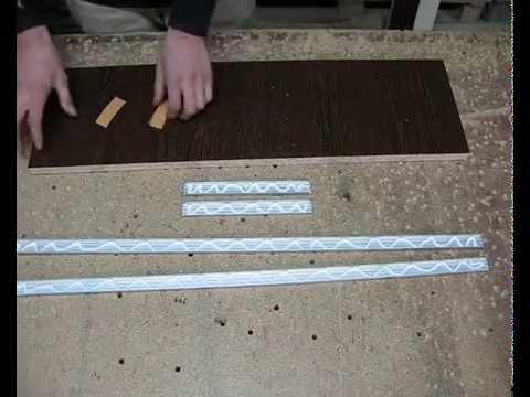 Торцовка мебельного фасада алюминиевым профилем